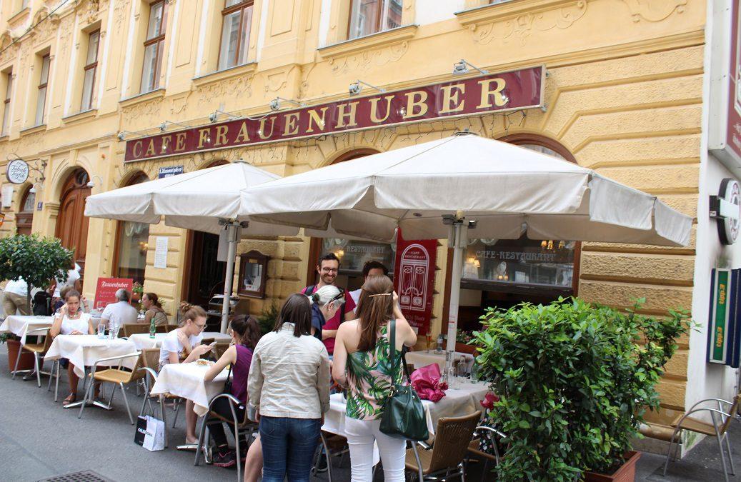 In Vienna, Sacher Torte and ice-cream coffee!