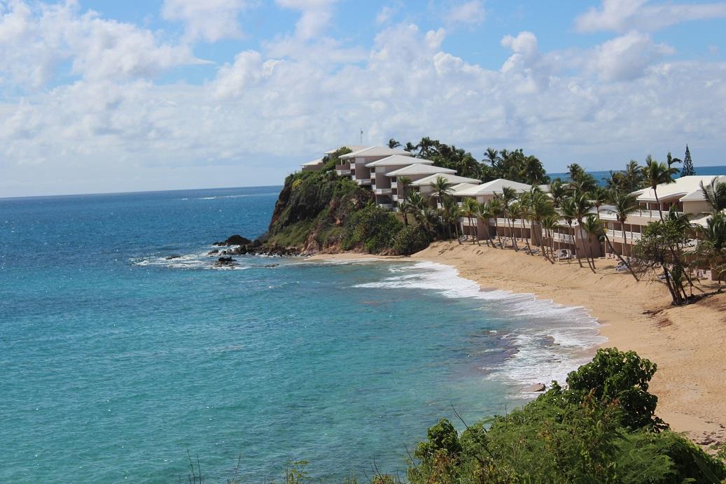 Surf beach view of Curtain Bluff in Antigua