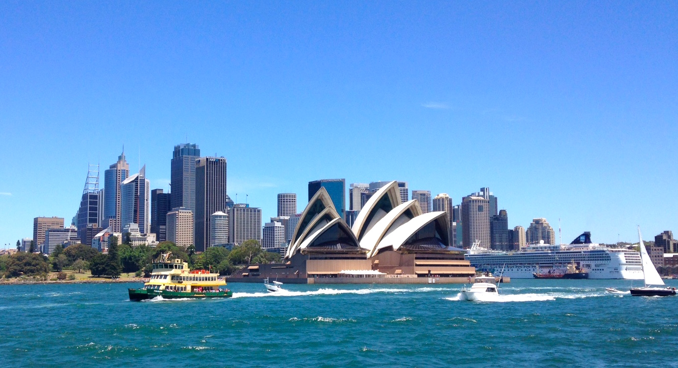 Sydney Harbor and famous Opera House