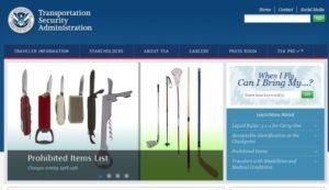 TSA home page