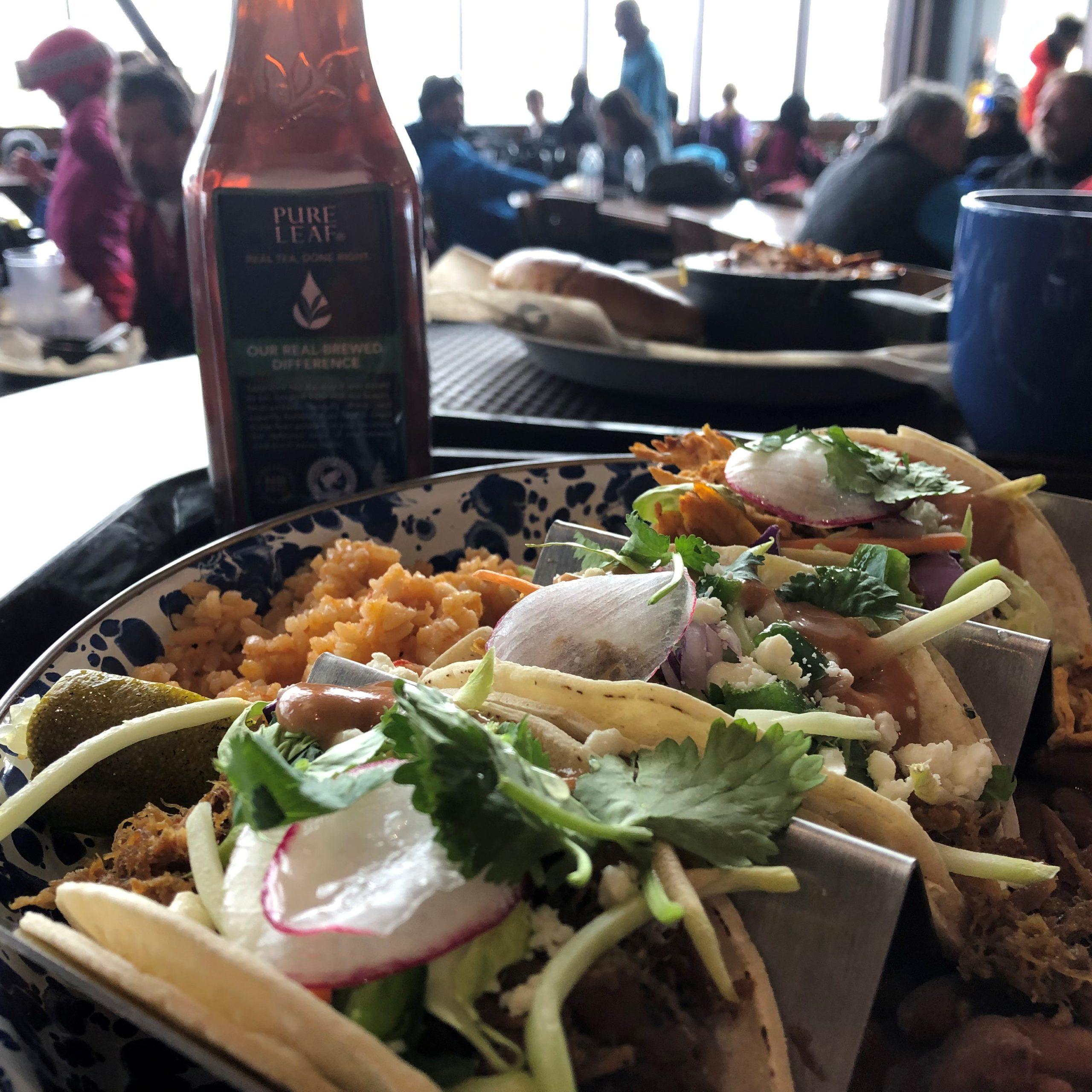 """Tacos al Pastor """"shepherd style"""" at Pioneer Crossing - Breckenridge Ski Resort"""
