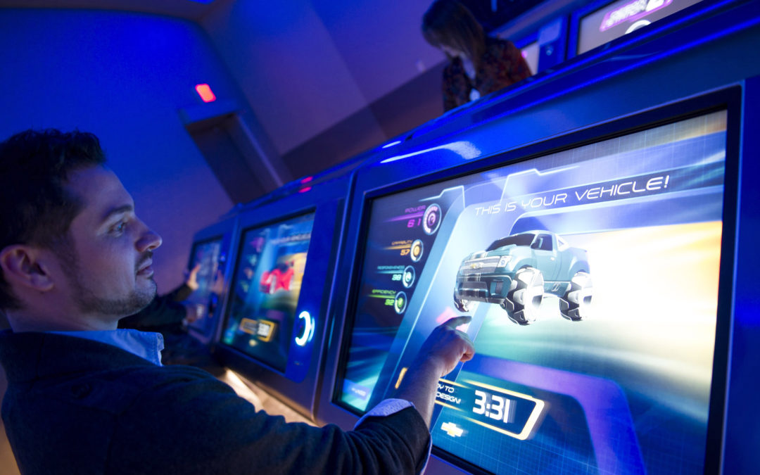Testing out the new Test Track at Disney World's Epcot