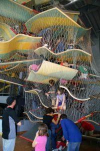 Boston Childrens Museum 3-story vertical cliimbing maze