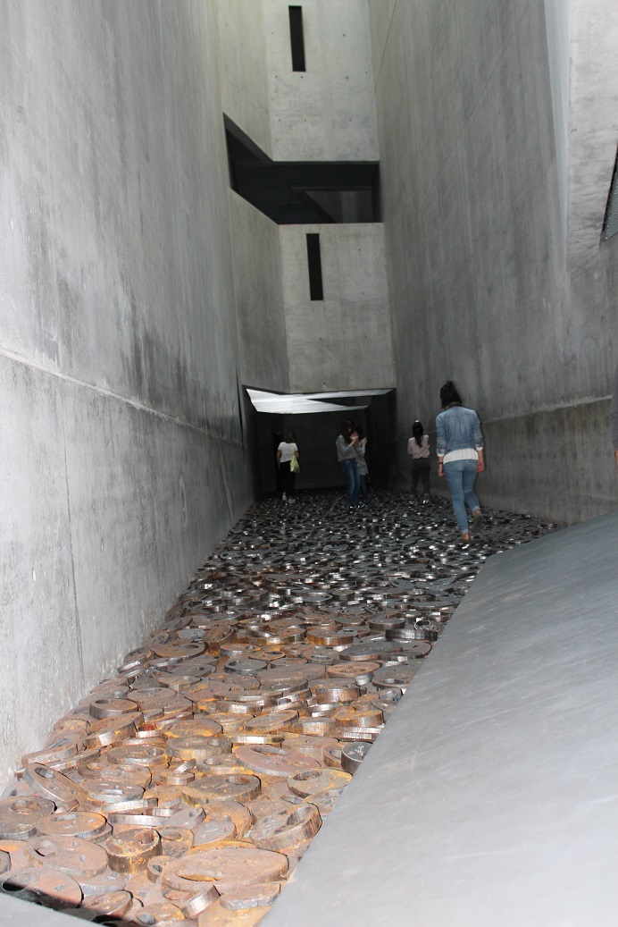 The Fallen Leaves exhibit inside the Jewish Museum of Berlin