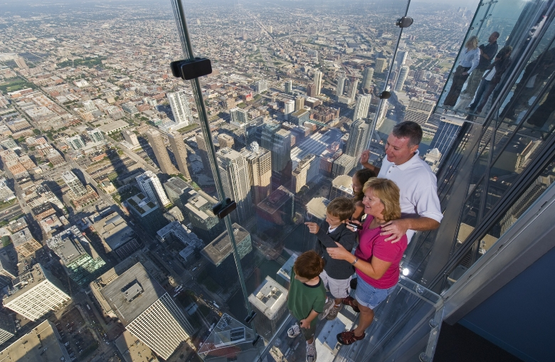 The Ledge at Skydeck Chicago in the Willis Tower