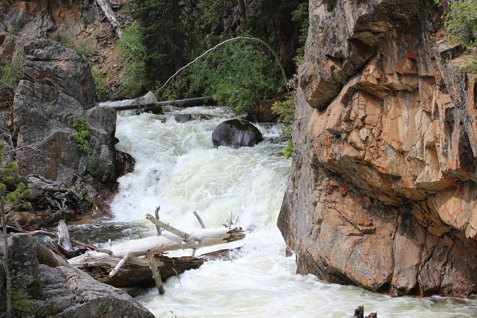 The Pool in the Big Thompson River in Rocky Mountain National Park