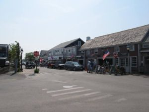 The Strip on in Nantucket Town is popular with teens