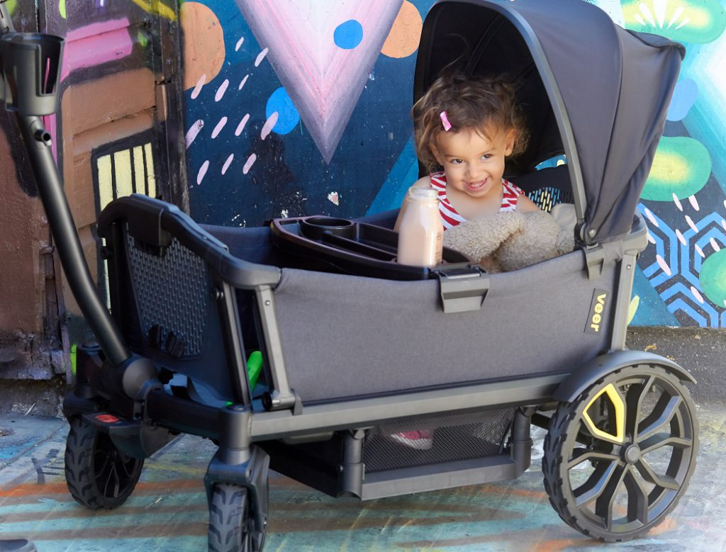 The Veer Cruiser, a rugged double stroller and durable wagon