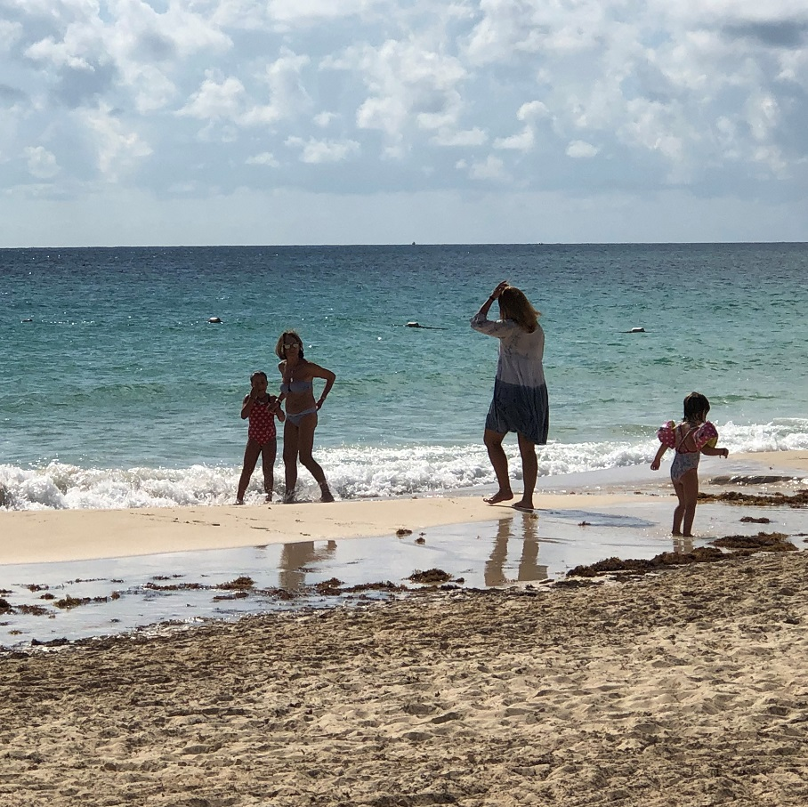 The beach activity at the Grand Residences Riviera Cancun