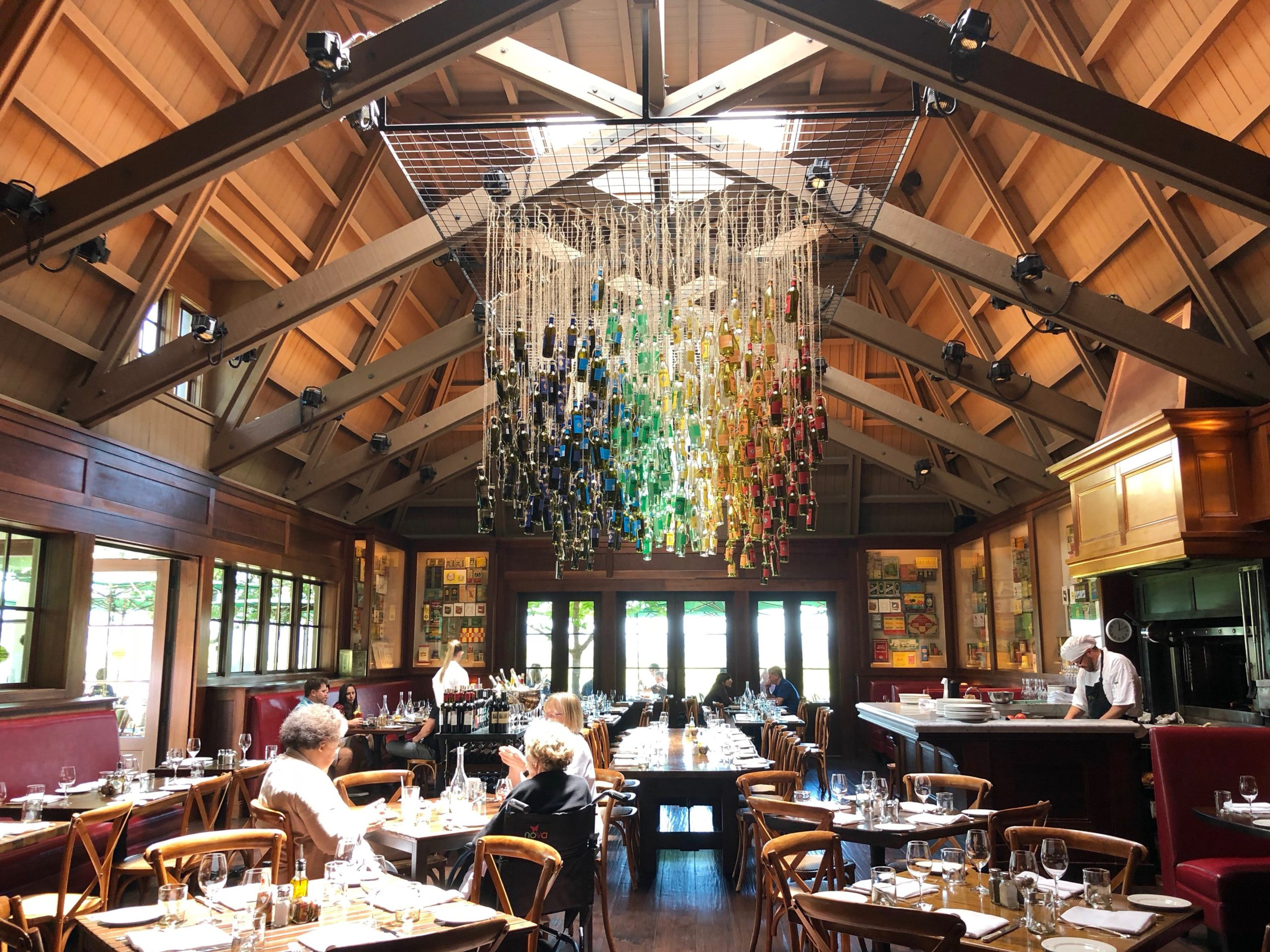 The exquisite dining room at The Francis Ford Coppola winery