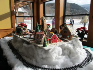 The gingerbread collection inside the AMC Highland Center