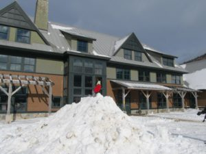 The main lodge at the AMC Highland Center in New Hampshire