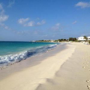 The mile long beach at the CuisinArt Anguilla
