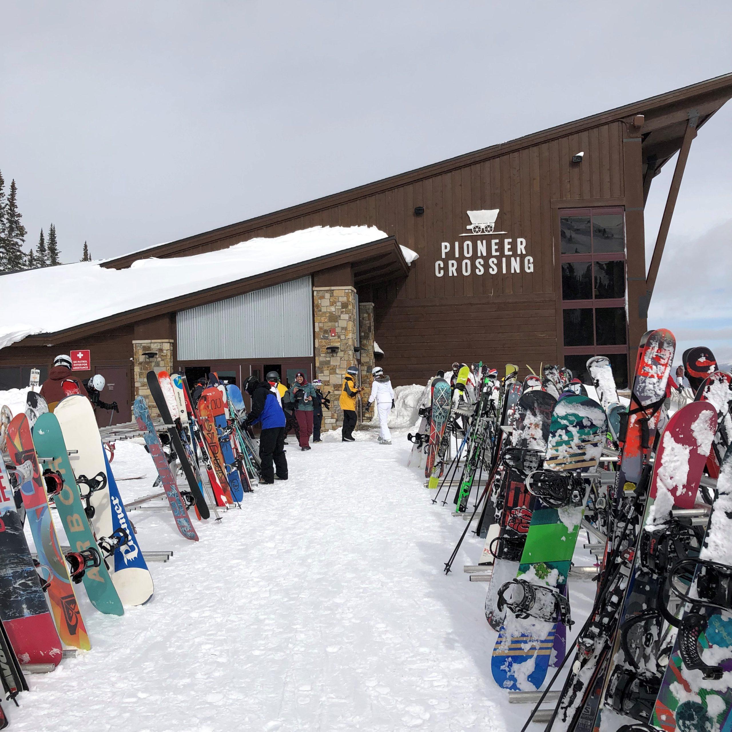 The new Pioneer Crossing mountain restaurant at Breckenridge Ski Resort