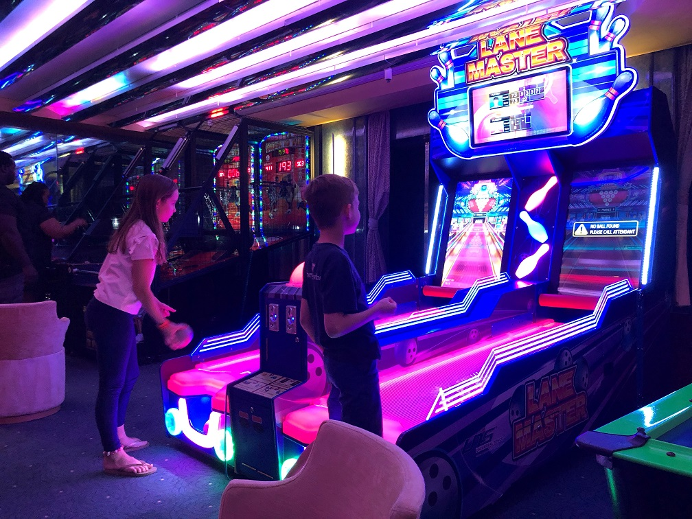 There's plenty of games to keep the kids busy on the ship