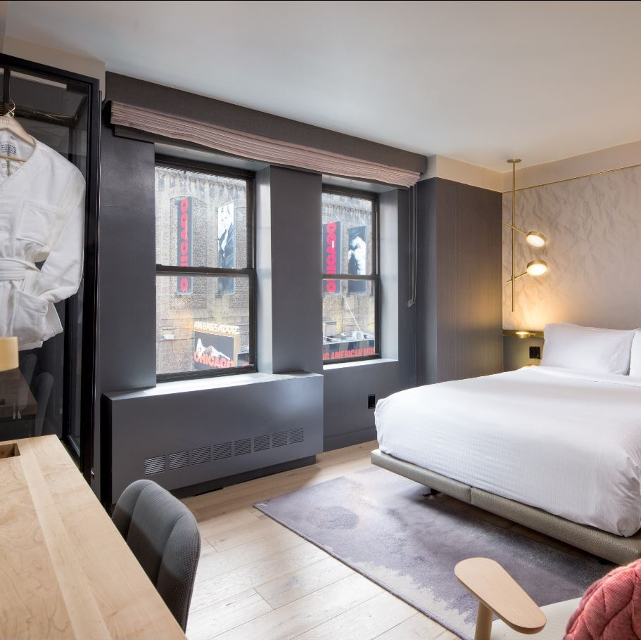 Queen bedroom at TIME Hotel NY in Times Square