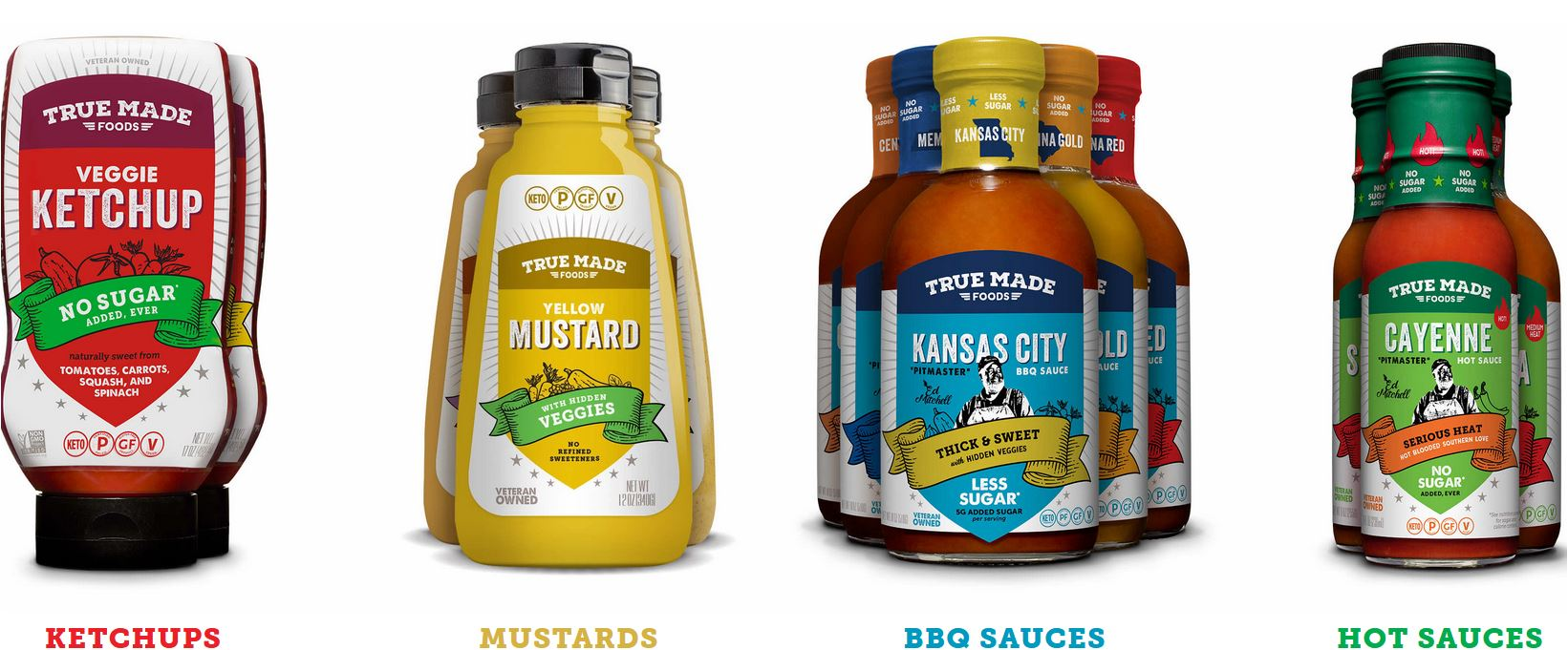True Made sauces and condiments made with no or less sugar