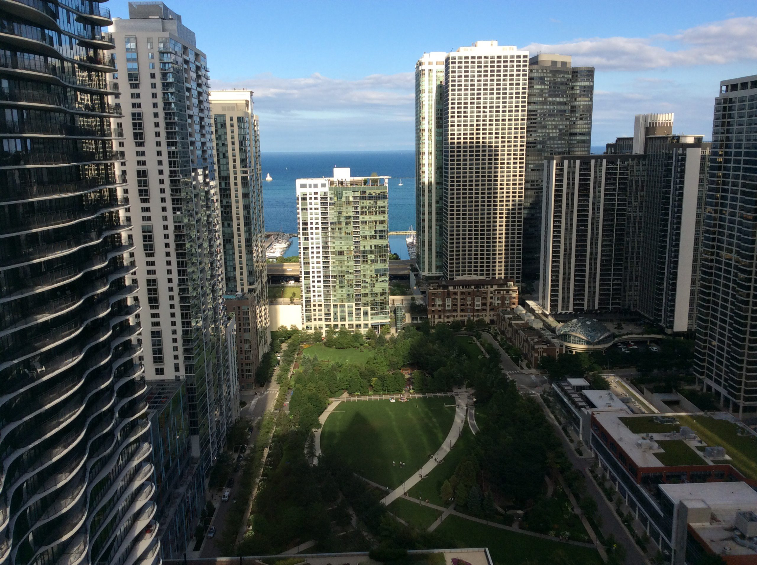 View from the Fairmont Chicago