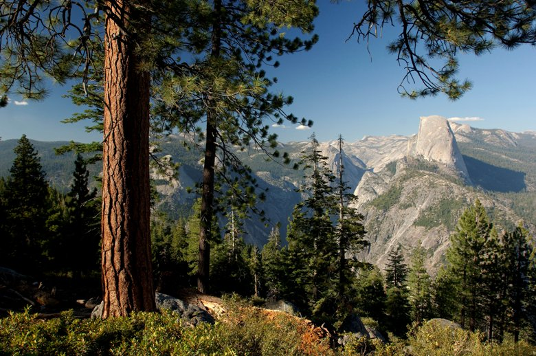 View from Glacier Point over half Dome and Yosemite Valley