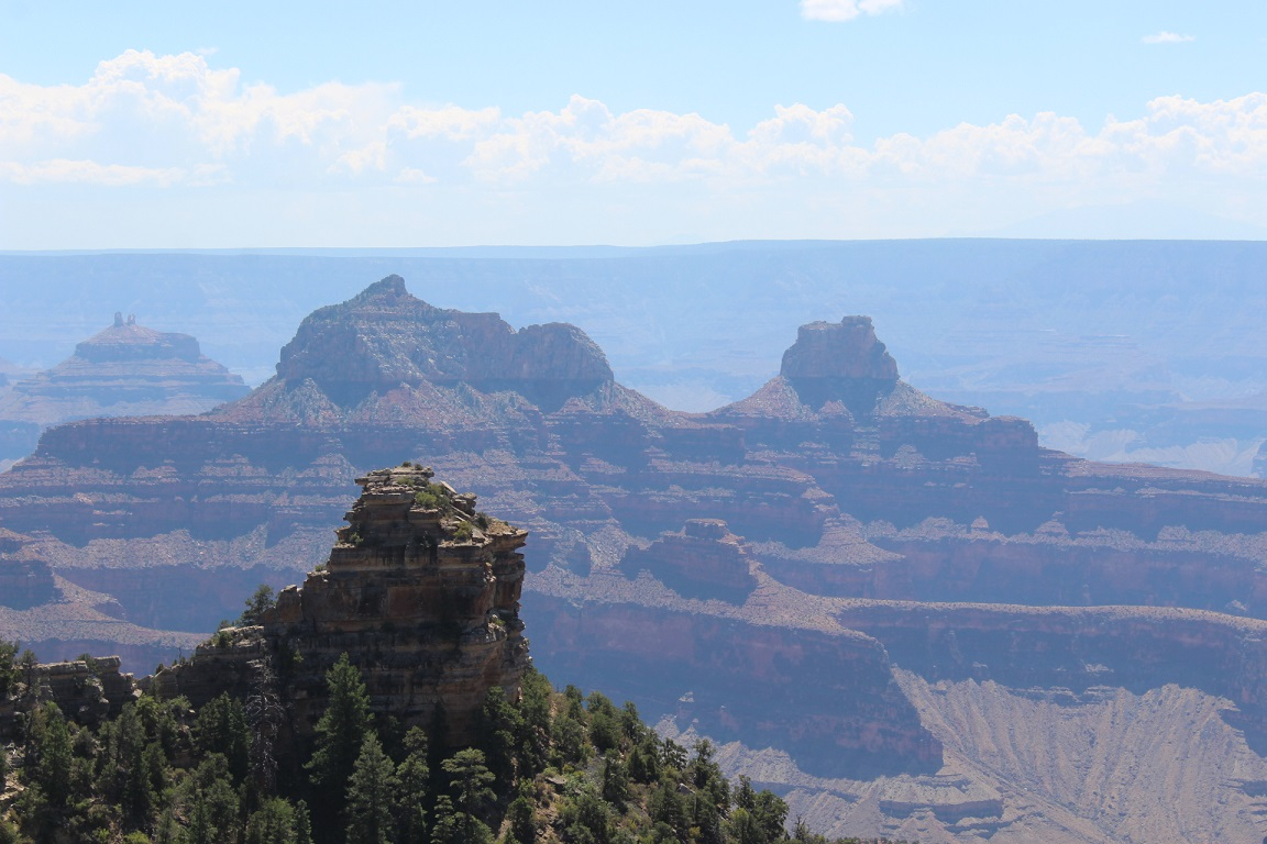 View from Widforss Point on North Rim of Grand Canyon NP