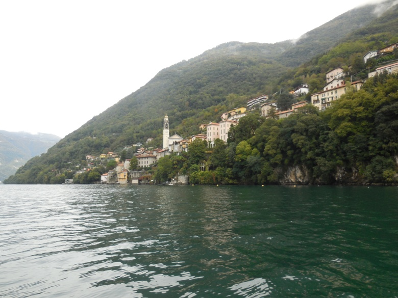 View from the motorboat tour of Lake Como