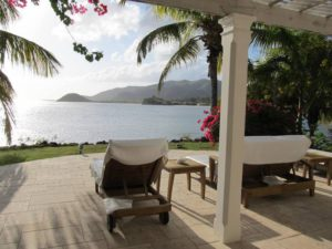 View from the spa at Curtain Bluff on Antigua