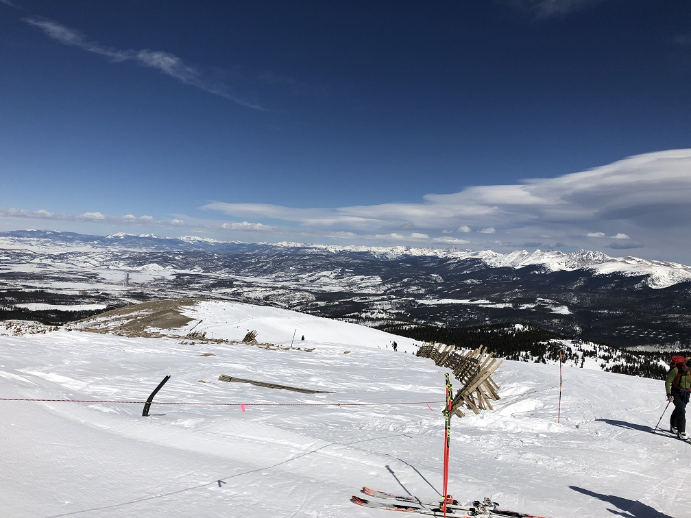 View from the top of the Panoramic Lift at Winter Park looking northeast to the Continental Divide