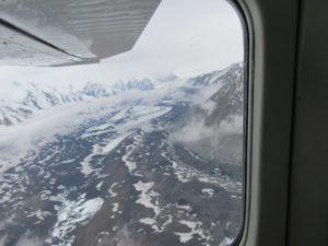 View of Glaciers in Alaska Range