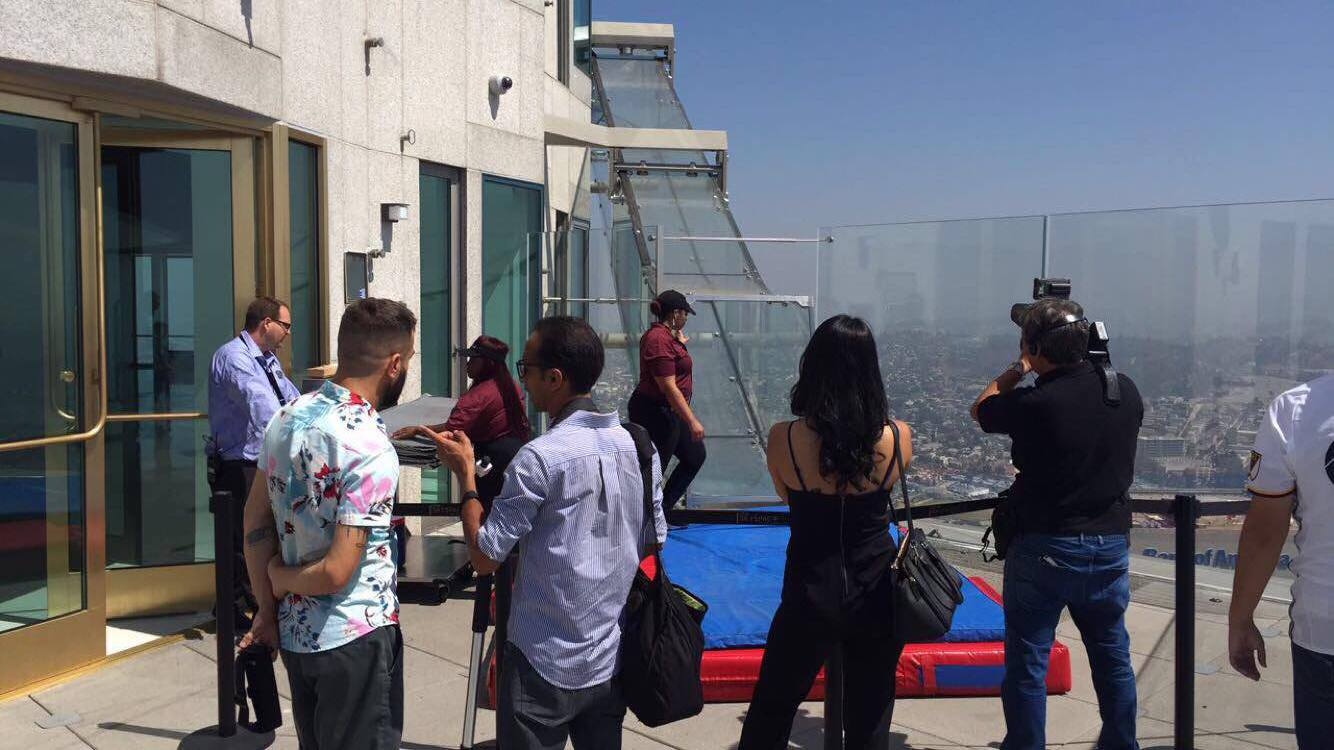 Viewing Reactions at the end of the Skyslide