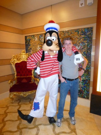 Will hanging out with his pal Goofy