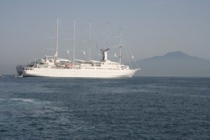 The Wind Surf from Windstar Cruise Lines during our cruise from Venice to Rome last summer