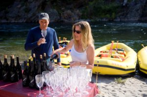 Wine tasting on an O.A.R.S river trip