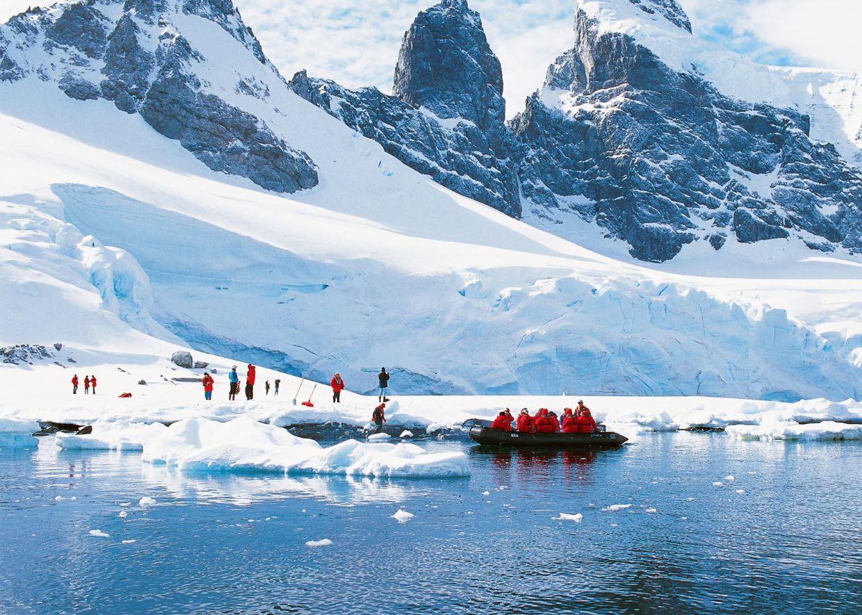 Zodiac excursion in Antarctica