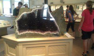 Amethyst exhibit at Harvard Museum
