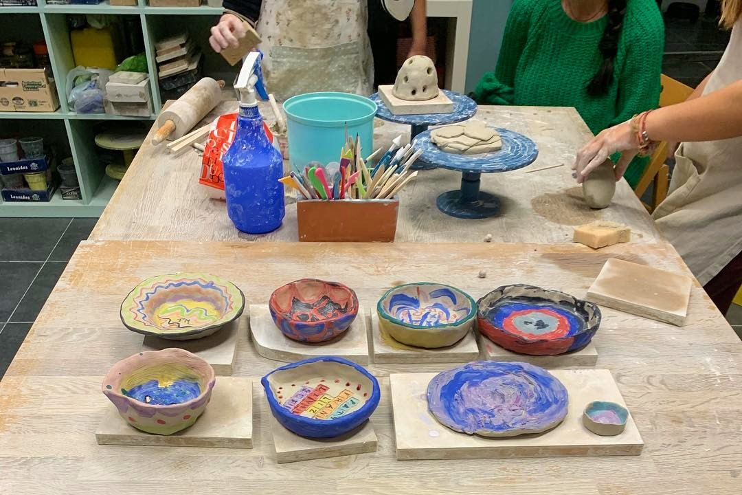 Ceramic pottery class for kids in Athens