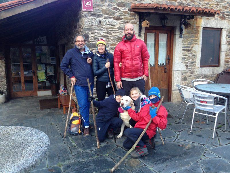 On the Camino de Santiago trek in Spain