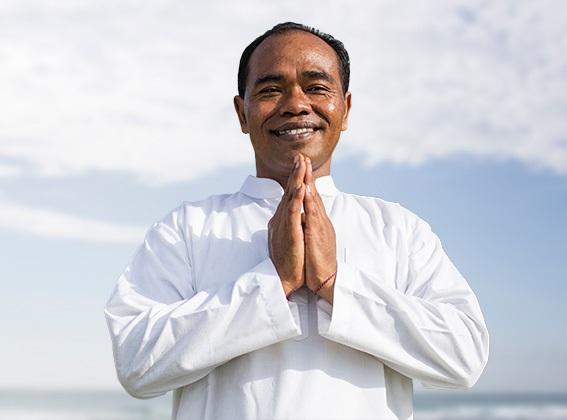 A spa treatment with a Balinese Guru