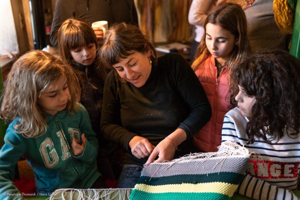 Weaving Lesson with Lena Gerothanassi at Rokka Guest House, Elafotopos village, Zagori, Epirus, Greece