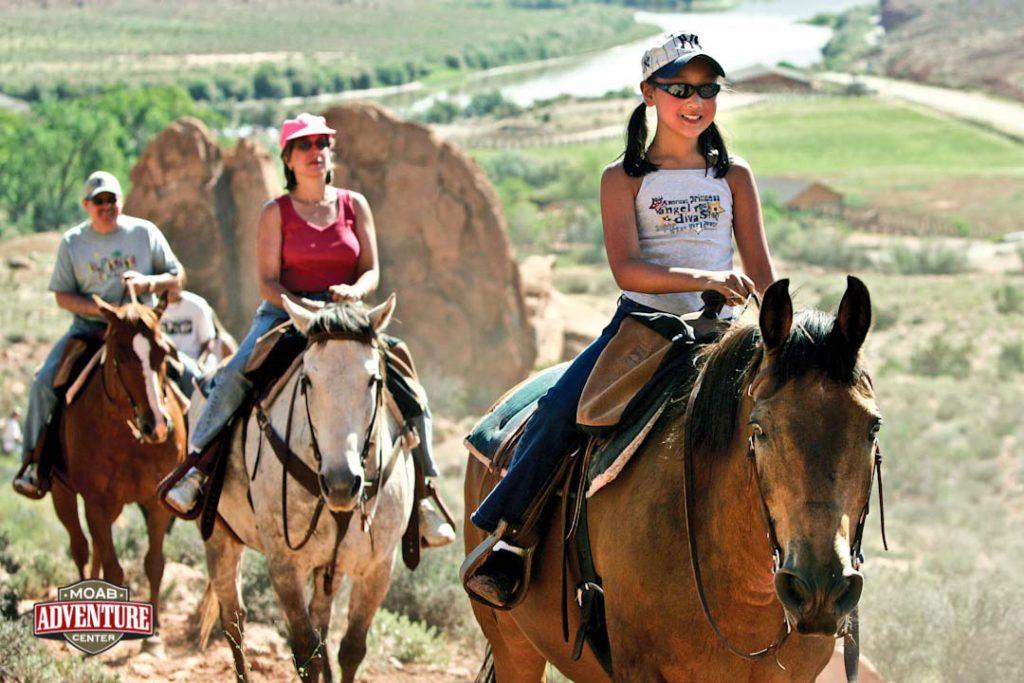 Moab Adventure Center - horseback riding through Castle Valley