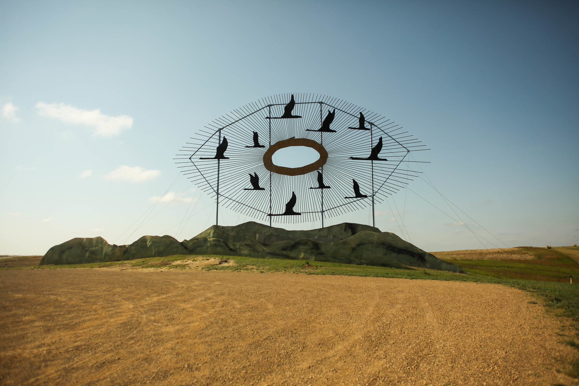 Geese in Flight is the largest statue on the Enchanted Highway, standing beside I-94 at the Gladston exit. (Credit North Dakota Tourism)