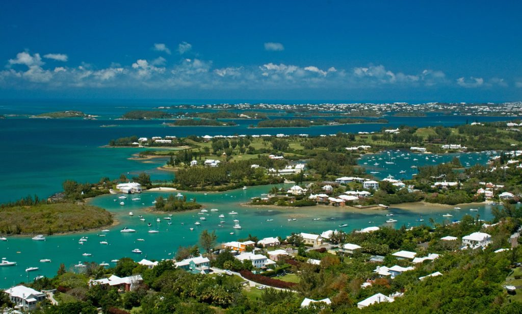 The Great Sound of Bermuda, on a sunny day.