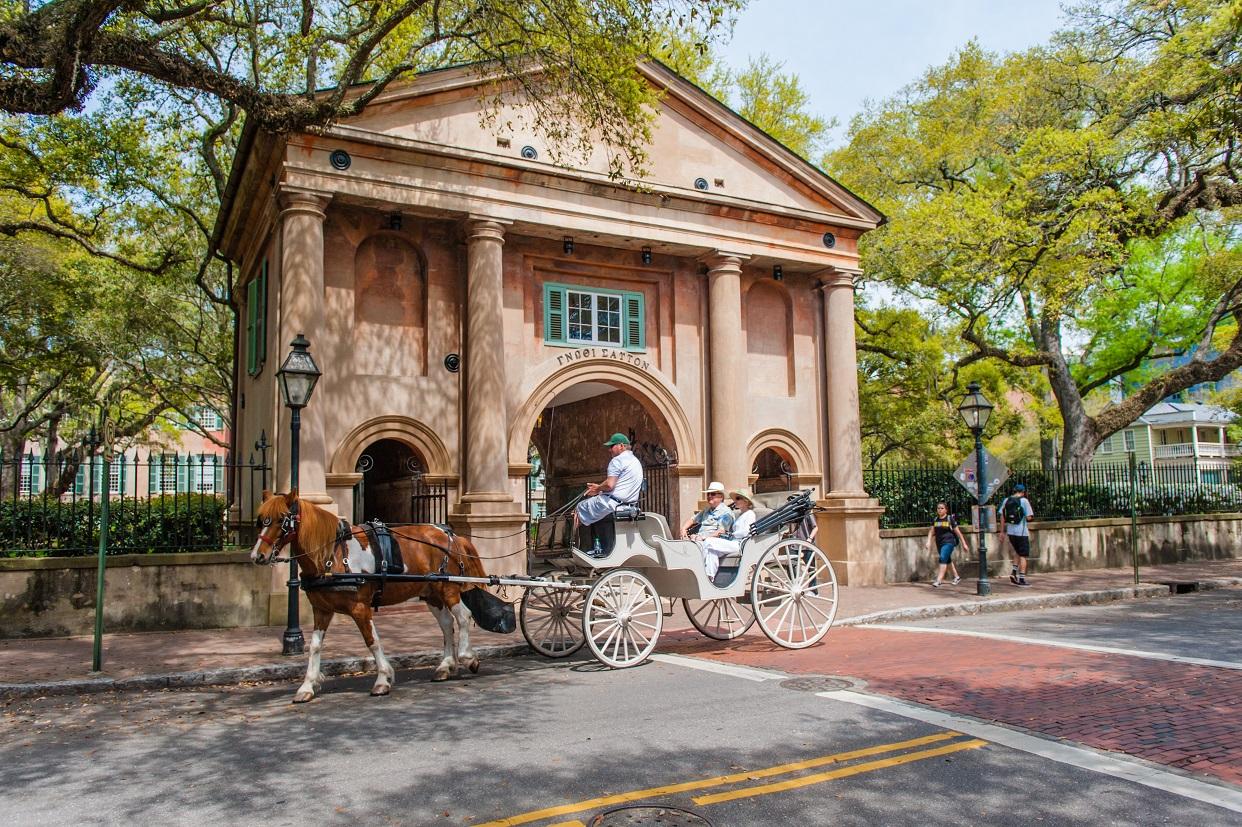 Romantic carriage ride in Charleston, S.C.
