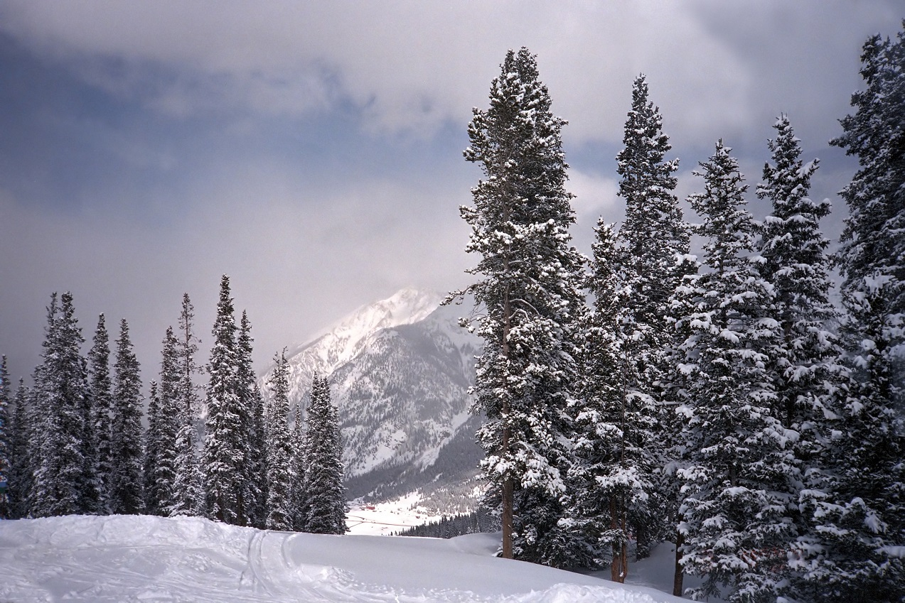 View from the top of a ski run at Copper Mountain, Colorado.