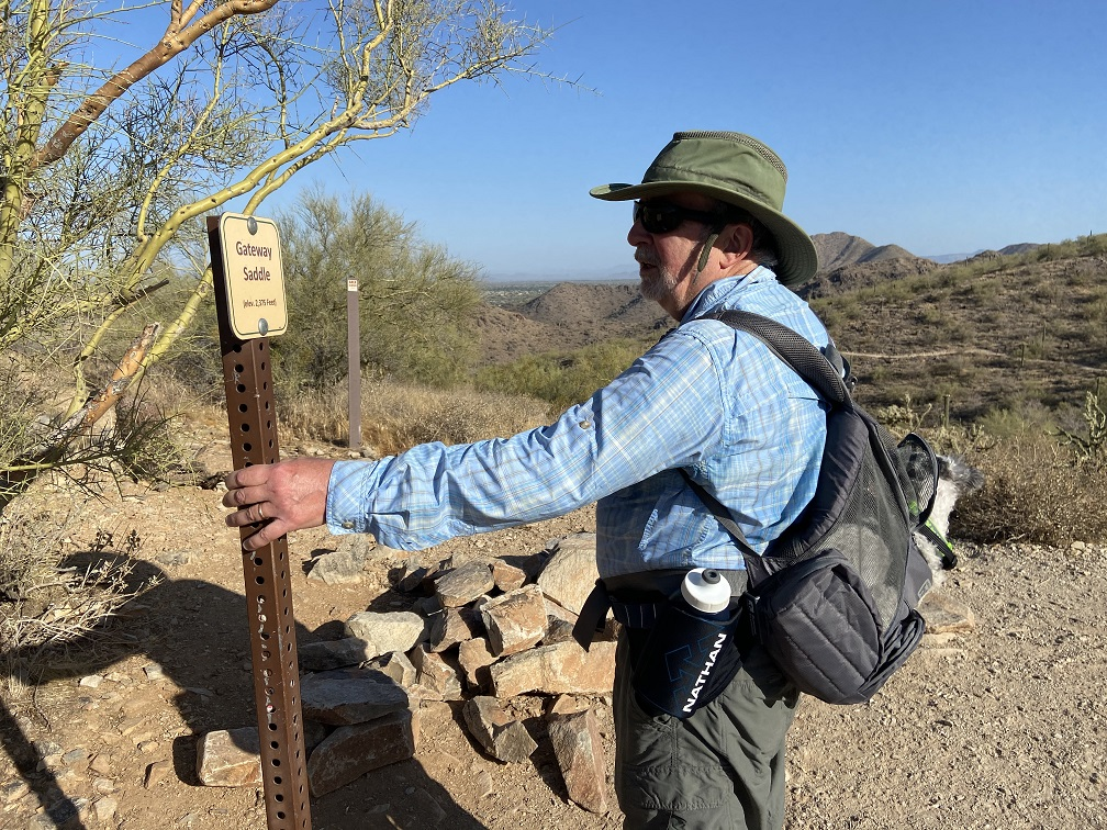 Hike in Sonoran Desert in Scottsdale.