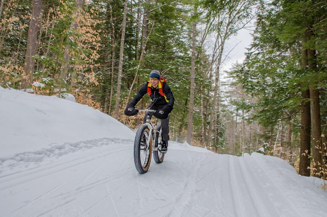 Fatbiking;Ski To uring; winter--Mt Washington Valley, NH.
