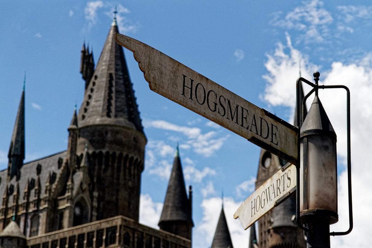 Hogwarts school from Harry Potter at Universal Studios, Orlando.