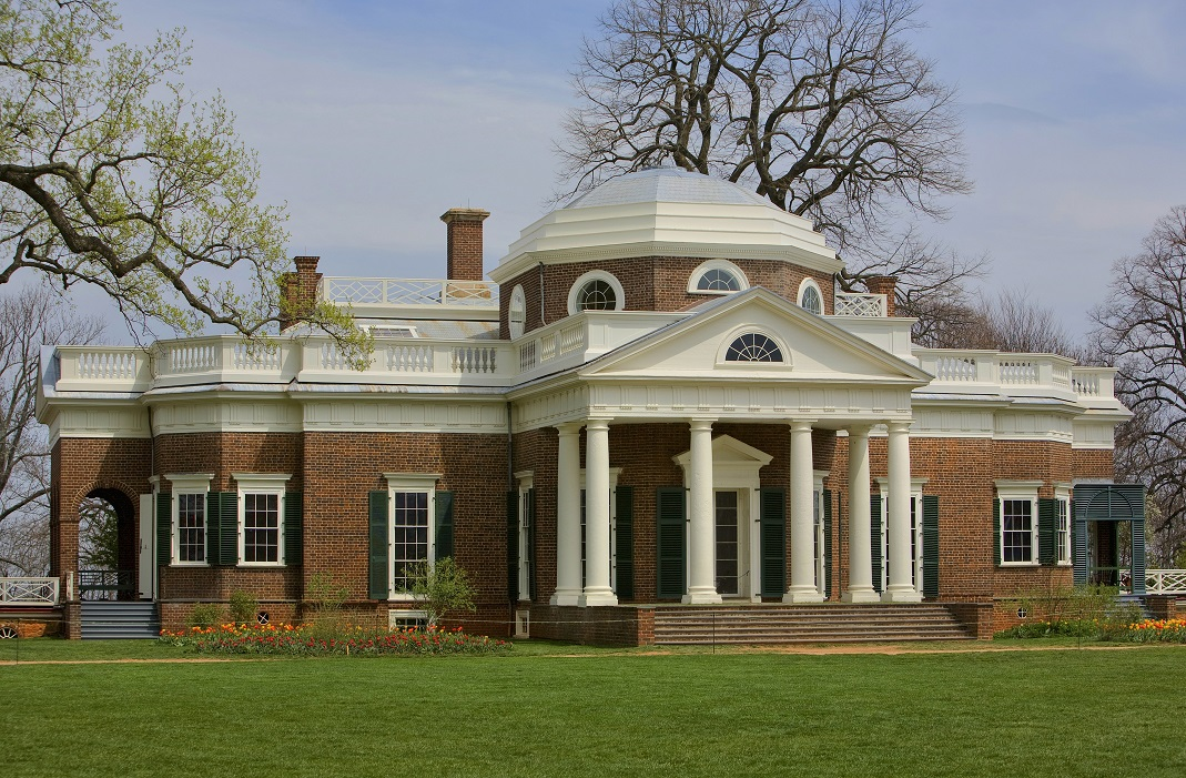 Monticello is the colonial home of Thomas Jefferson.