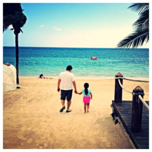 Daddy-Daughter bonding afternoon on the beach