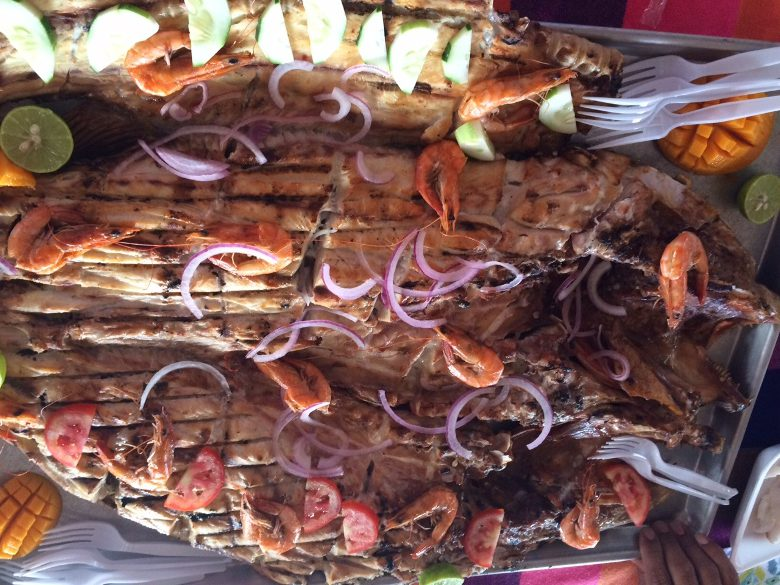 A memorable feast of mangrove-grilled Snapper – last day in Mexico