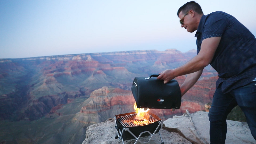 GoBQ portable grill in action
